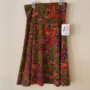 LulaROE Azure skirt paisley print size M NWT